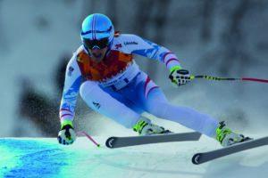Matthias Mayer aux Jeux Olympiques de Sotchi en 2014