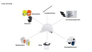 uvex airwing Zubehör Arbeitsschutzhelm