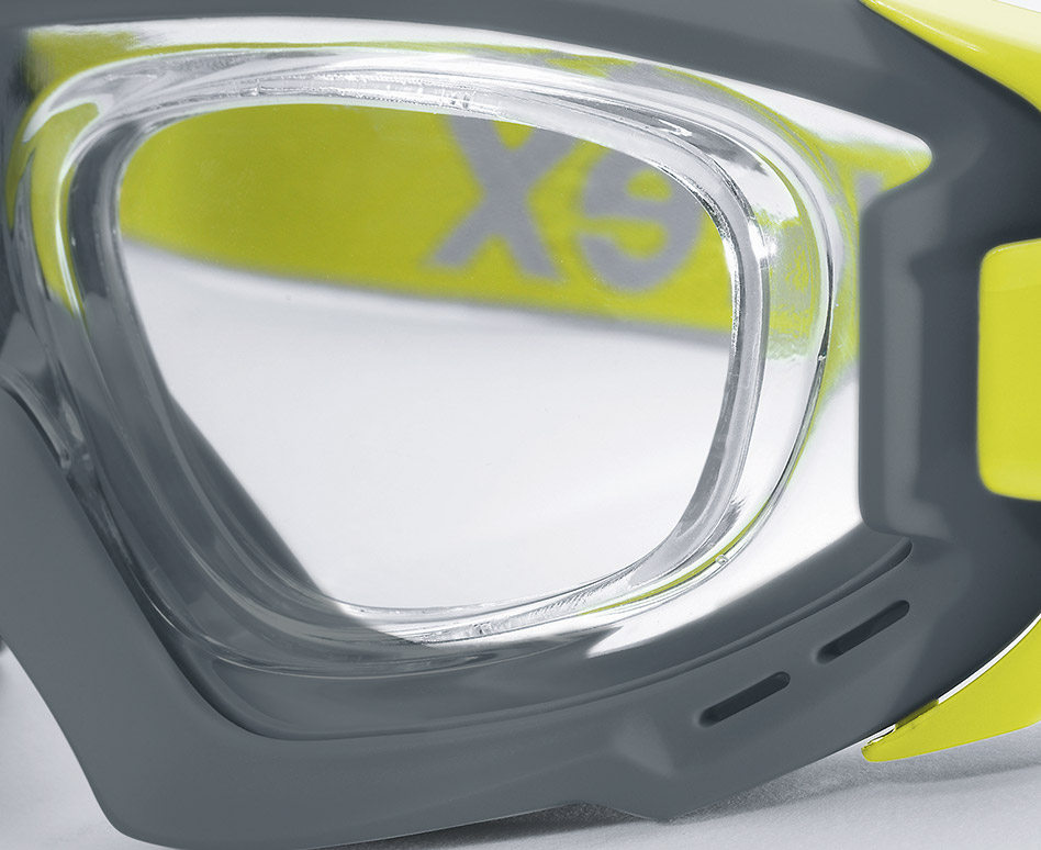 c4fd91632b Prescription safety lenses are inserted directly into the goggle frame  according to the individual prescription strength.